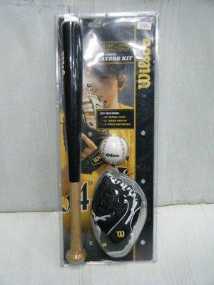 新莊新太陽 Wilson WTA0001A 親子 棒球組 附 兒童 棒球手套 球棒 棒球 特990/組