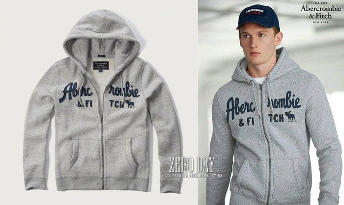【零時差】A&F Abercrombie&Fitch Applique Logo Graphic Hoodie連帽外套