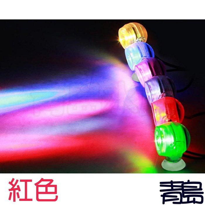 暫停Y。。。青島水族。。。F-110-R水中情境燈 LED 水中燈 水中投射燈(小夜燈 水陸兩用 1W USB)==紅色