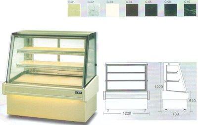 瑞興斜面玻璃後開門展示櫃 / 蛋糕冷藏展示櫥 / 營業用前開式冷藏展示櫃