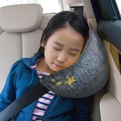 ˙TOMATO生活雜鋪˙日本進口雜貨人氣夏日限定涼感月亮造型星柄刺繡汽車安全帶專用頸部靠枕(預購)