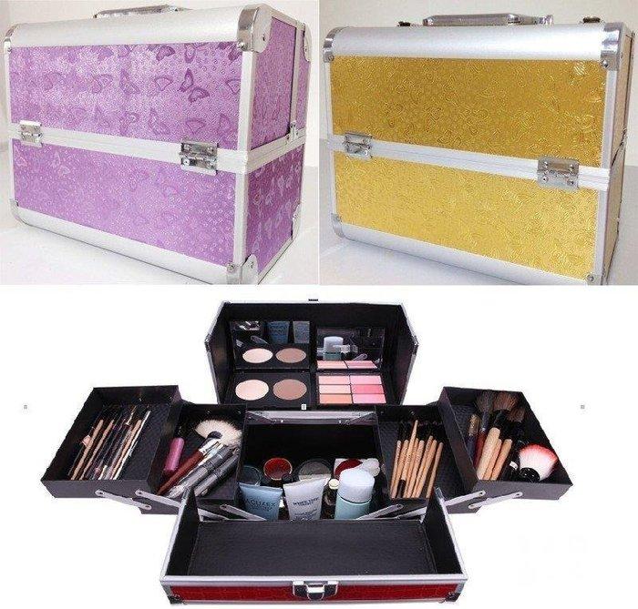 三季大號32CM鋁合金美容師彩妝師專業手提化妝箱化妝包彩妝箱彩妝包(八種款式)BH763
