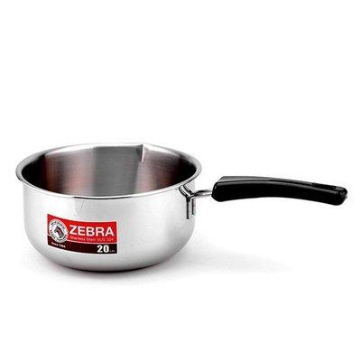 斑馬牌雪平鍋20cm 2.2L 斑馬雪平鍋 牛奶鍋 斑馬牌單把湯鍋20cm 斑馬單把湯鍋 台中市