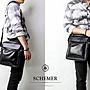 SCHEMER/  8247 黑色牛皮側背包 真皮側背包 ...