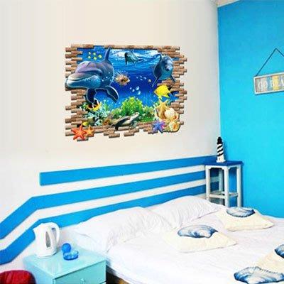 創意壁貼-3D海底世界 AY9706-977【AF01013-977】