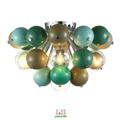 【美學】北歐後現代吸頂燈時尚客廳美式簡約圓球形彩色兒童房燈具藝術MX_602