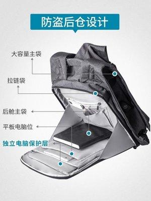 後背包 雙肩包男士背包大容量韓版電腦包...