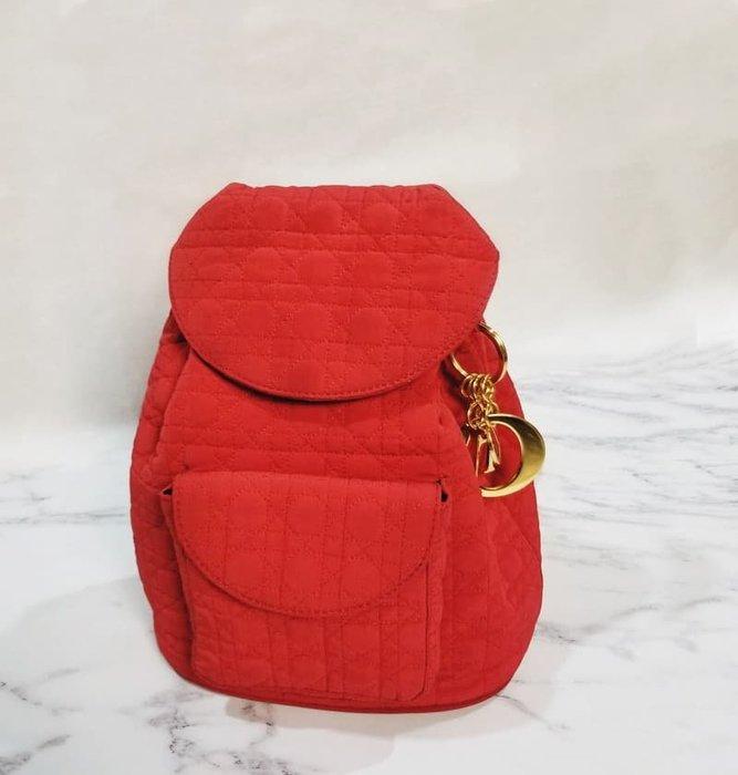 Vintage Merchant【絕版】Dior經典999紅色 色丁黛妃 優雅小後背包