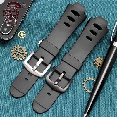 錶帶均思 頌拓 Suunto Observe X6HRM 觀察家手表帶 凸口防水硅膠16mm配件手@yo11807