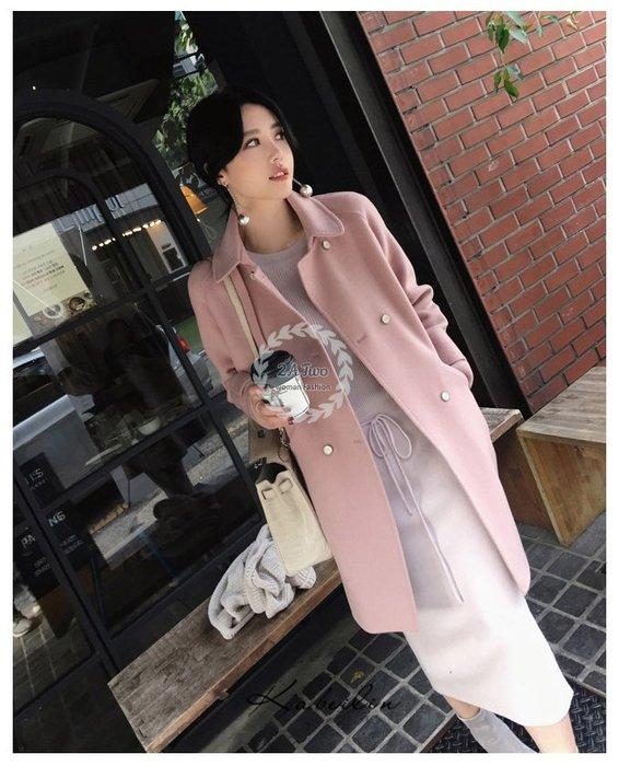 【2A Two】韓國⌒毛呢 厚實 保暖 質感 大衣 外套『381014002』