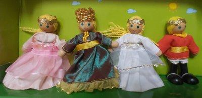 BSNHO比好玩具 木玩世家Suropcon Nobles皇室家族(國王 皇后 王子 公主)(法國Janod)