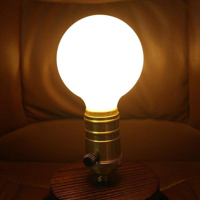 5Cgo【權宇】設計師款 E27 LED 奶白龍珠燈泡 G60 G80 G95 G125 3W~9W 寬電壓世界通用含稅