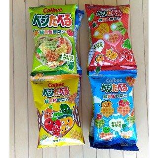 【新品】日本 calbee 卡樂比 卡樂比4連包 心型野菜餅乾 蔬菜餅乾 寶寶餅乾 心型蔬菜餅乾 野菜餅 4連包