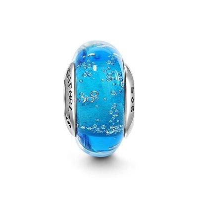 *現貨*SOUFEEL (PANDORA通用) 索菲爾 925 純銀 串珠  琉珠系列 藍色海洋 琉璃珠Charm