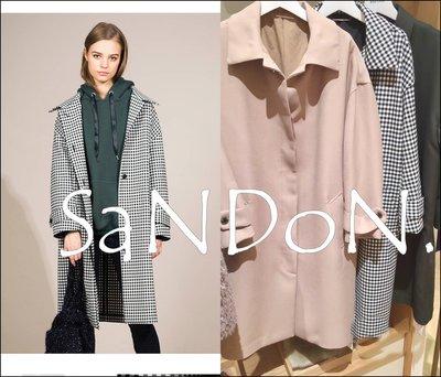 SaNDoN x『MILAOWEN』秋冬專櫃主打 格紋長版風衣繭型復古翻領外套 SLY moussy 171014
