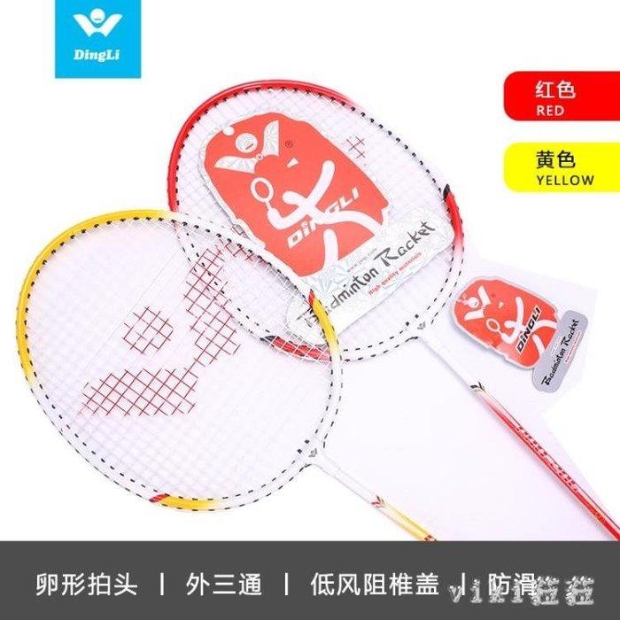 羽球拍 羽毛球拍2支成人家庭學生情侶初學訓練雙拍 鐵合金羽毛雙拍 CP6094