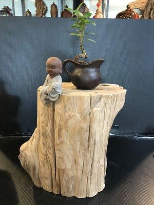 【 檜人檜語 】超重油鳳尾奇木紅檜超藝度 原木座b2