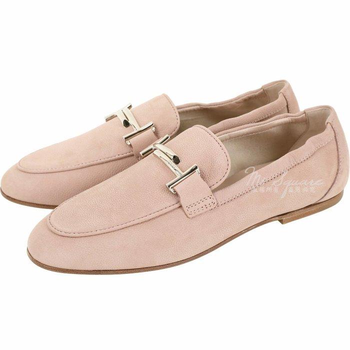 米蘭廣場TOD'S Double T 金屬飾釦莫卡辛鞋(粉裸色) 1920769-05