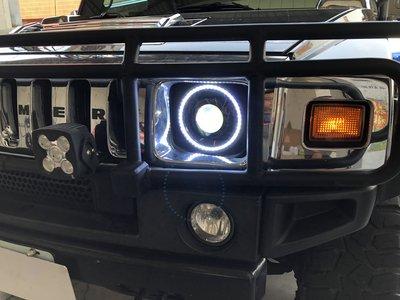 車燈 吉普車 JEEP 藍哥 WRANGLE 悍馬 H2 HUMMER LED 光圈 天使眼 牧馬人 魚眼 大燈 頭燈