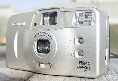 Canon AF Prima BF-90 32MM定焦版 高級機種 大對焦窗 正日製 近全新日期皮套手繩 底片膠捲相機