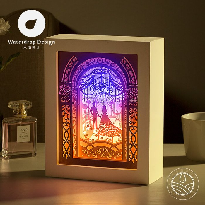 解憂zakka~ 光影紙雕燈婚禮2.0客廳臥室床頭裝飾3DIY創意簡約現代溫馨浪漫LED#禮物#紙雕燈