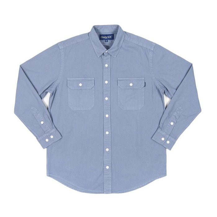 《 Nightmare 》ONLY NY Washed Cotton Beach Shirt - Bay Blue