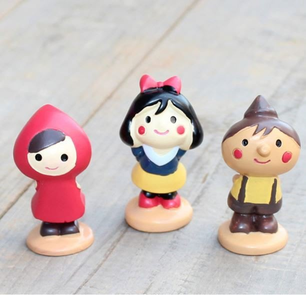 MR.PAPA (現貨)【M-8007-B053】 園藝組盆小物~小紅帽 白雪公主 小木偶站立公仔