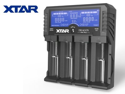 {MPower} XTAR DRAGON VP4 Plus LCD Charger Tester 充電器 ( 3S, 18650, 26650 ) - 原裝行貨