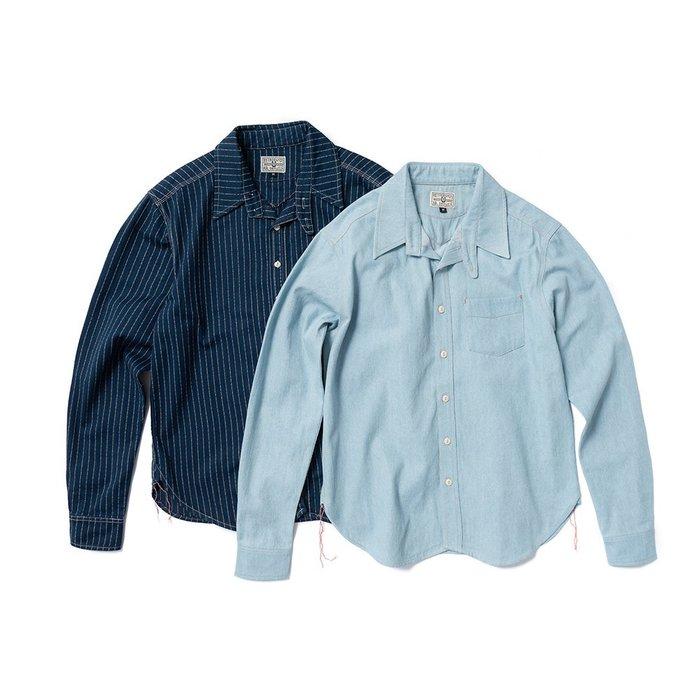 { POISON } RETRODANDY WABASH L.SHIRT 美國鐵道工人 藍染工裝長襯衫