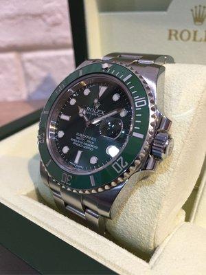 「已交流」勞力士 Rolex 116610LV 綠水鬼 台灣公司貨 G字頭 114060 116400 126600