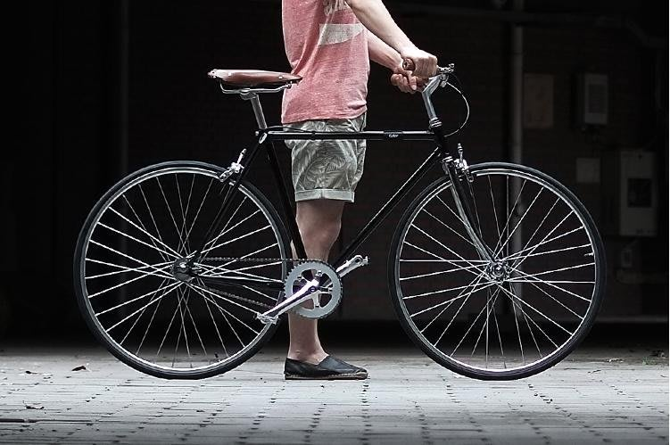 【河馬單車】復古公路車 變速車 700C自行車 單速車 城市雅緻 簡約風格 基本款 標配 黑色