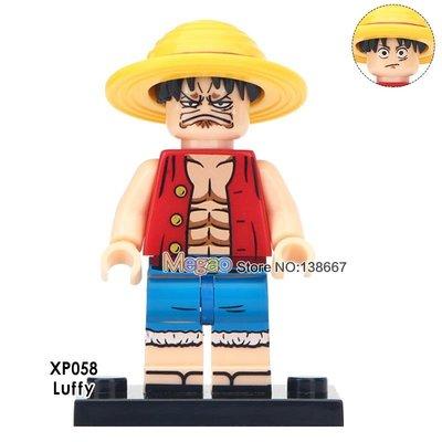 【積木班長】XP058 蒙其 魯夫 路飛 海賊王 航海王 ONE PIECE 人偶 袋裝/相容 樂高 LEGO 積木