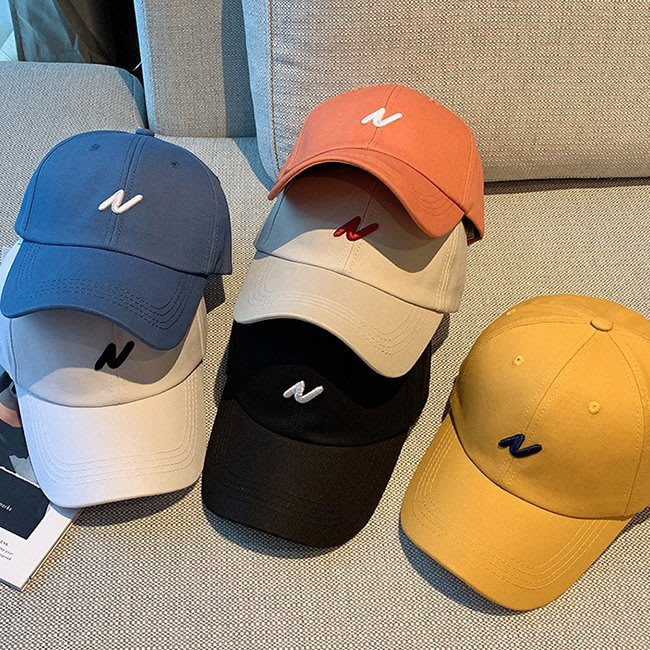 【FAT CAT HOUSE胖貓屋】韓國新款簡約刺繡棒球帽 百搭休閒鴨舌帽遮陽帽 品質保證 現+預