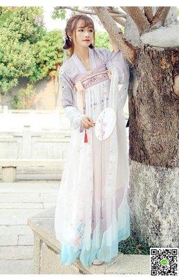 漢服漢服女齊胸襦裙傳統漢服冬唐裝齊胸襦裙古裝改良清新淡雅日常
