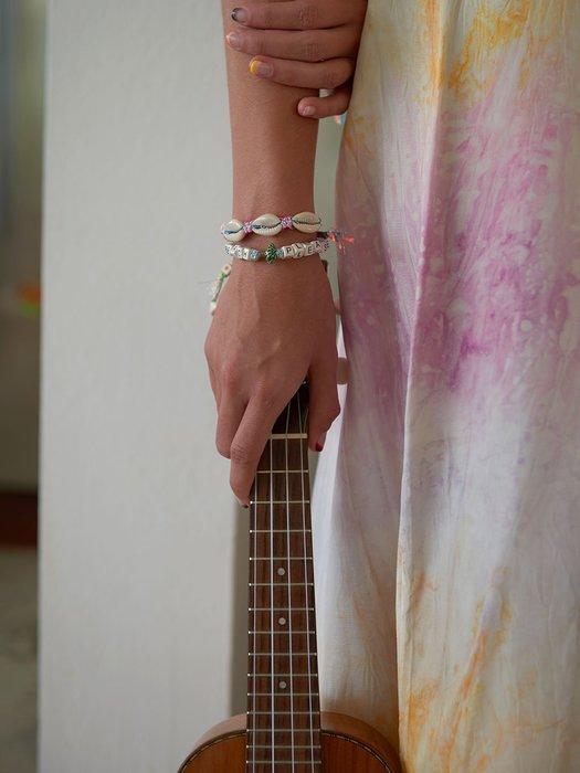 Venessa Arizaga FANTASEA BRACELET SILVER RAINBOW 貝殼手鍊 彩色沙灘手鍊