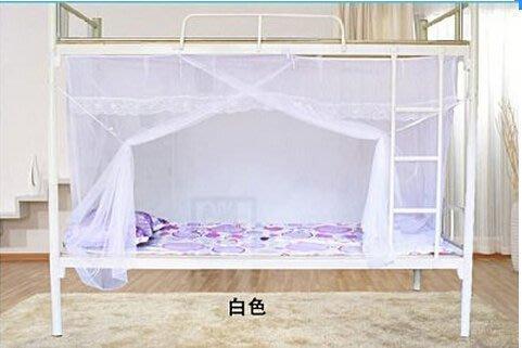 【優上精品】加密款學生蚊帳蕾絲花邊單人床寢室上鋪下鋪宿舍蚊帳雙層鐵架床睡簾(Z-P3257)