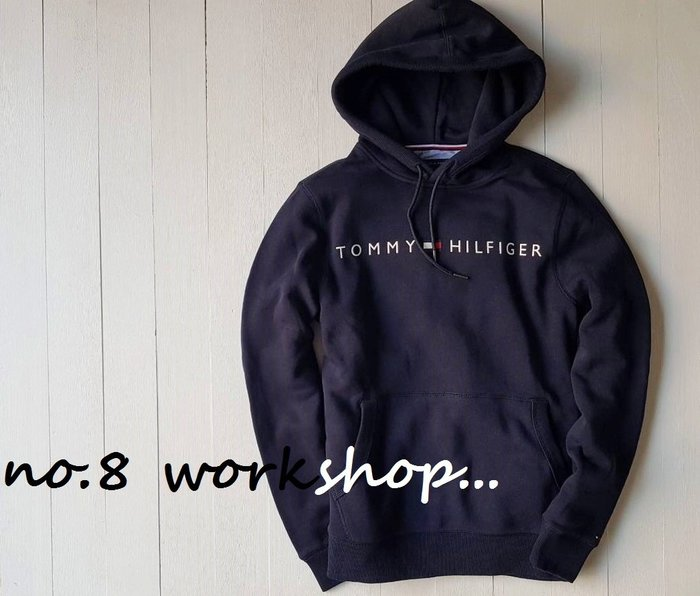 T☆【男生館】☆【TOMMY HILFIGER LOGO印圖連帽T恤】☆【TOM002N4】(XS-S-M-L-XL)12/9到貨