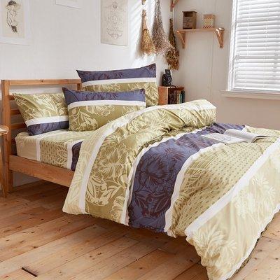 《iHOMI》台灣製雲絲絨雙人加大床包被套四件組- 菩提樹下