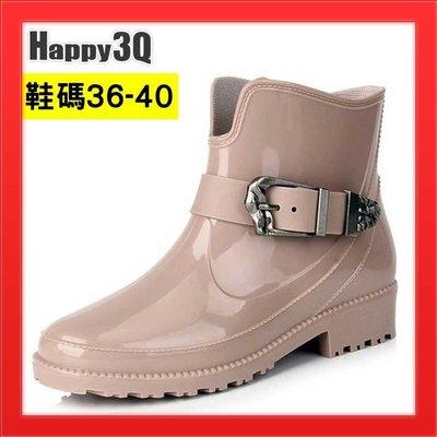 中筒雨靴短筒雨鞋防水靴防水雨鞋成人雨鞋橡膠雨鞋漆皮短靴雨具-黑/紅/卡其36-40【AAA2184】預購