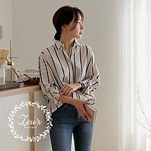 【ZEU'S】韓國秋裝休閒百搭條紋襯衫『 09017620 』【現+預】I