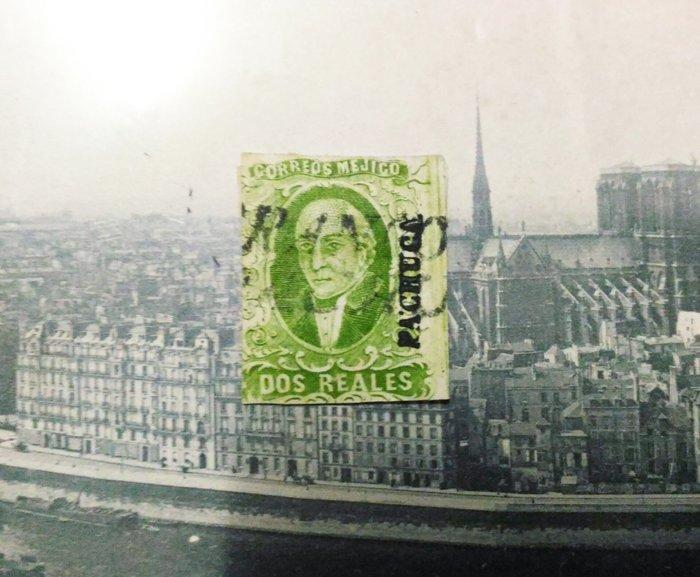 墨西哥(Mexico) 1856年(首套郵票) Miguel Hidalgo - 米格爾·伊達爾戈. 2R