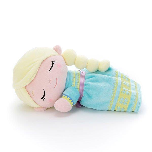 【艾莎 睡覺音樂娃娃】冰雪奇緣2 艾莎 音樂娃娃 小抱枕 螢光 日本正版 該該貝比日本精品 ☆