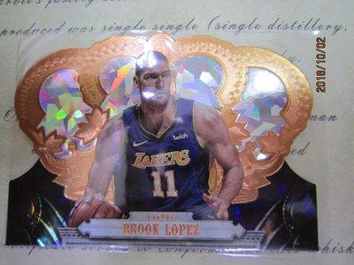 新賣家~17/18~Brook Lopez /99~CROWN ROYALE~皇冠~金亮~限量/99~5 1元起標