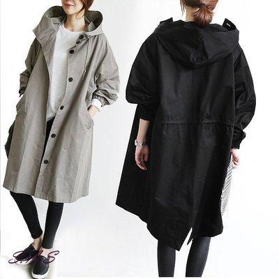 SAS 韓版加大寬鬆男友風衣外套 OVERSIZE 女裝 女外套 風衣外套 大衣 中長款顯瘦外套 外套【1281C】