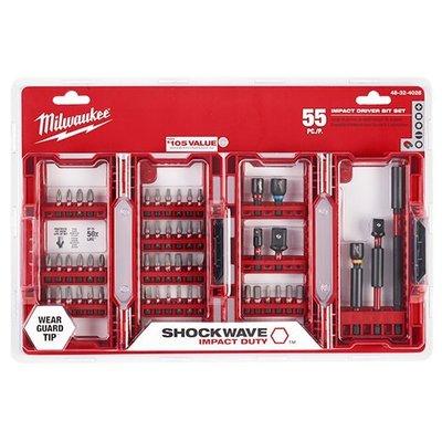 米沃奇Shockwave矩陣硬質合金55件頂級衝擊起子配件套件