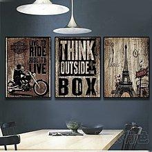 歐美複古木板裝飾畫咖啡館酒吧無框畫電影明星海報壁畫名建築掛畫(21款可選)