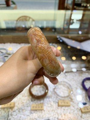 天然鳳羽紋珊瑚玉手鐲