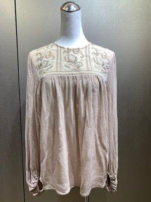 GRACE CONTINENTAL 米色立領蕾絲上衣 9.9成新