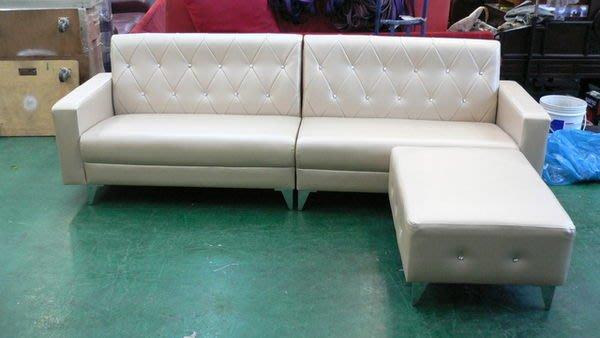 宏品二手傢俱館 庫存家具拍賣 A101*凱斯大型L型皮沙發*客廳桌椅/訂製各式布沙發全新2手價 台北桃園新竹台中彰化嘉義