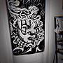 Cover Taiwan 官方直營 Chicano 嘻哈 西岸 老墨 塗鴉 字體 家飾 傢飾 窗簾布 門簾 (預購)